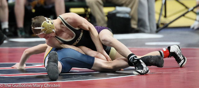 106 – Tyson Peitz (Waconia) over Rameses Peterson (Totino-Grace) TF 16-0. 190228amc1529