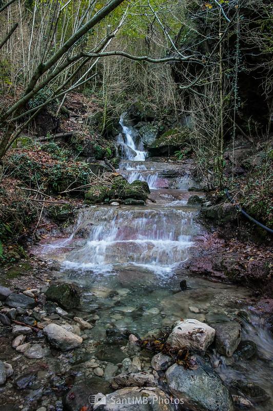 Una cascada del Torrent dels Xerrics