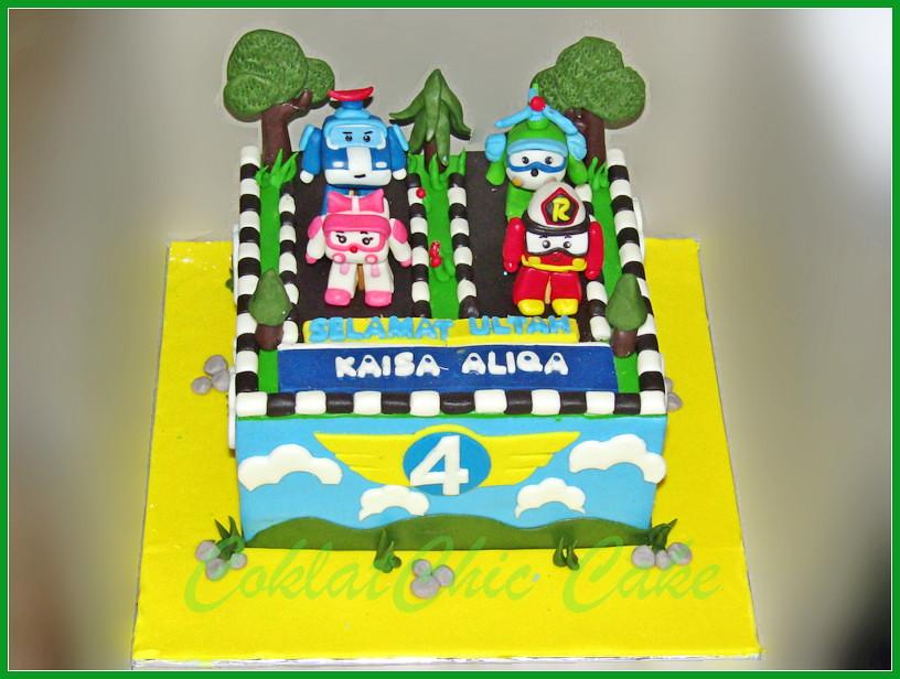 Cake Robocar KAISA ALIQA 18 cm