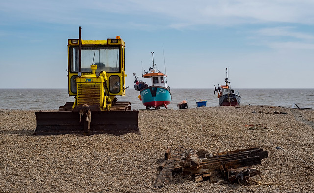 Aldeburgh beach and boats