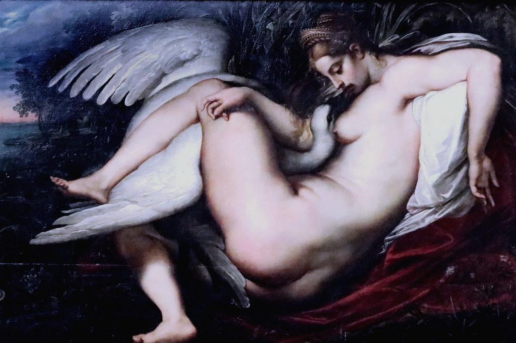 IMG_4204E Peter Paul Rubens. 1577-1640. Anvers. Leda et le Cygne Leda with the swan. 1600. Dresde. Gemäldegalerie Alte Meister.
