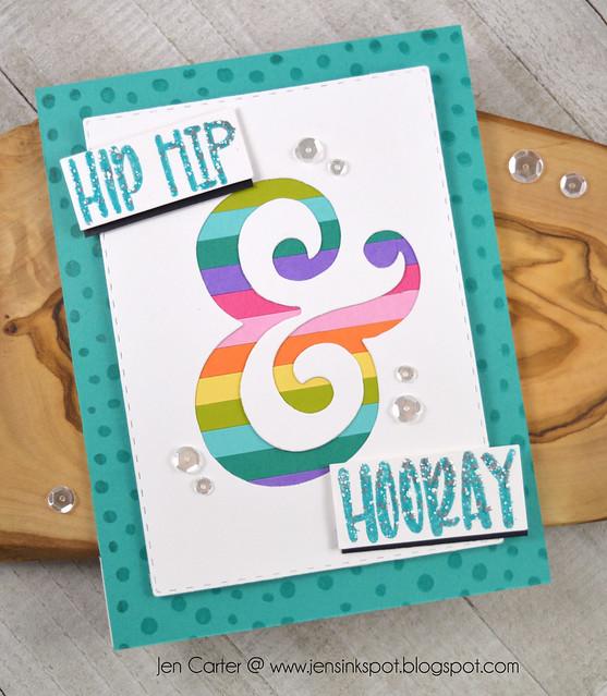 Jen Carter Hip hip and Hooray CP Ampersand rainbow 1