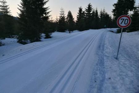 Krásné lyžování na Jizerce