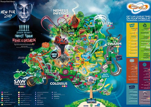 Thorpe Park 2017 Park Map | by ThemeParkMedia