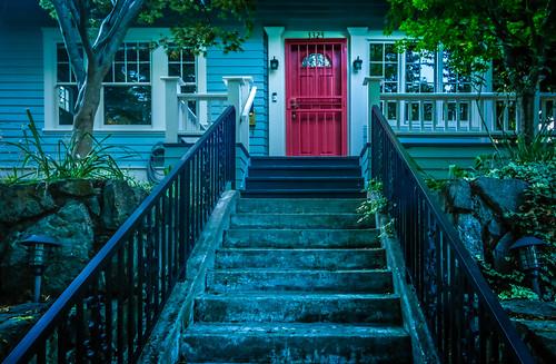 Blue Steps, Red Door | by splatwriter