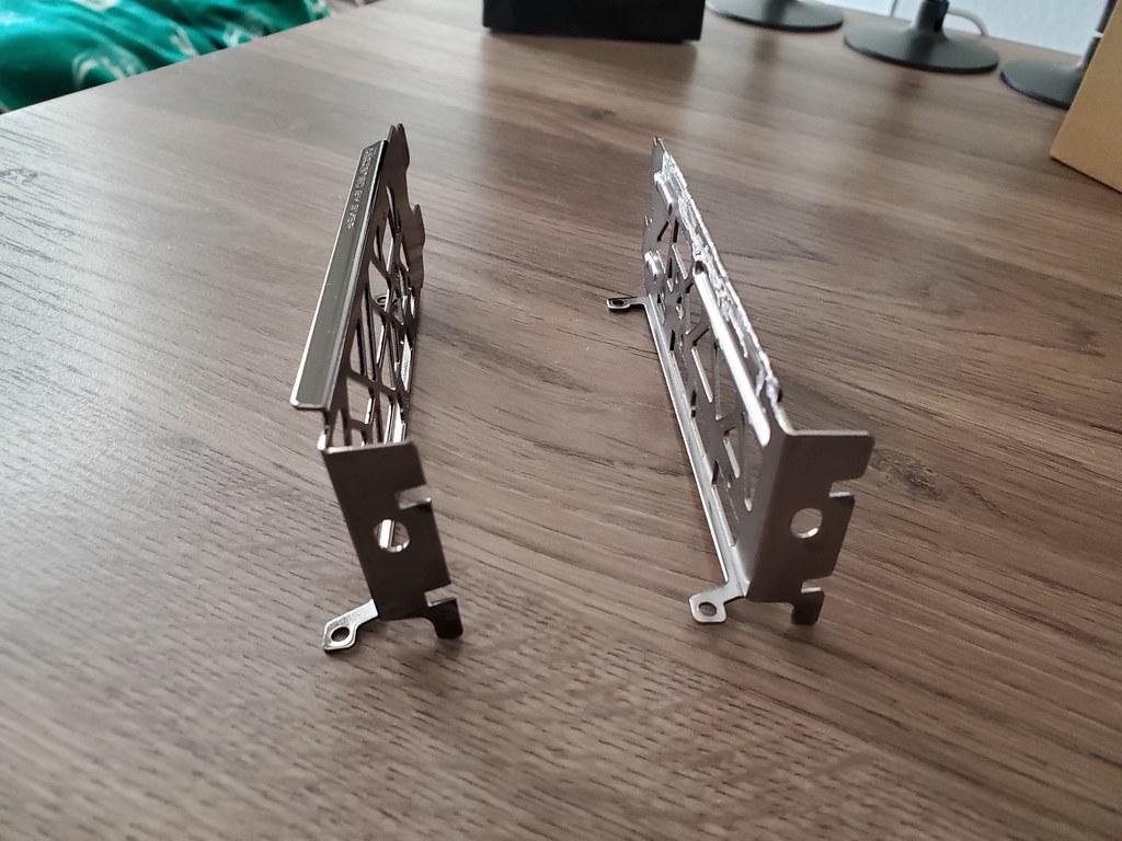 2 slot bracket for vertical mount on stock cooling