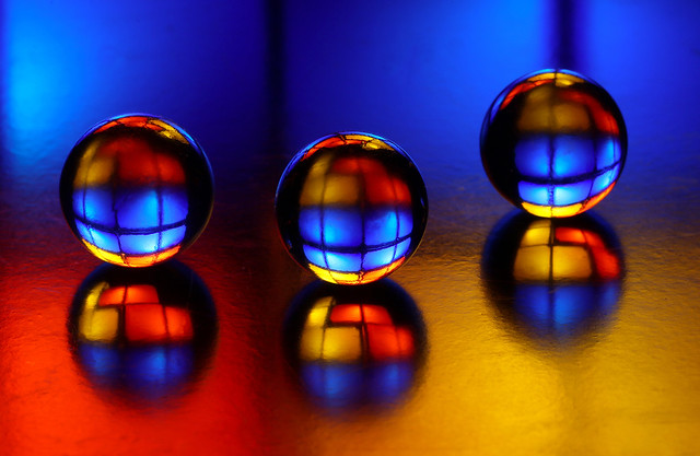 colourful marbles