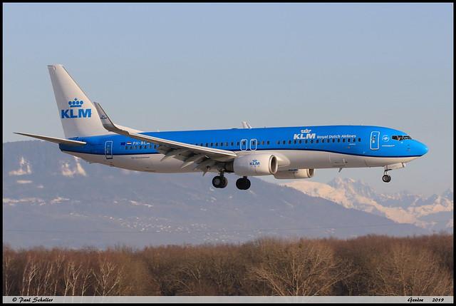 BOEING737 8K2 KLM PH-BCA 37820 Genève février 2019
