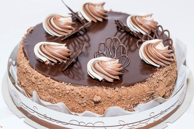 Delicious chocolate birthday cake