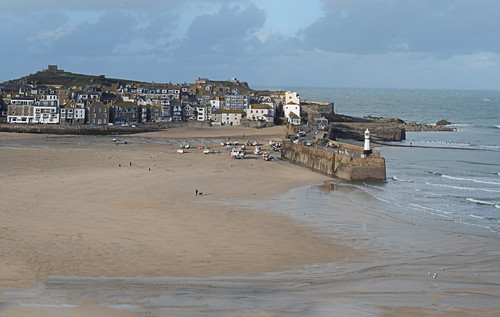 St. Ives harbour, Cornwall, UK