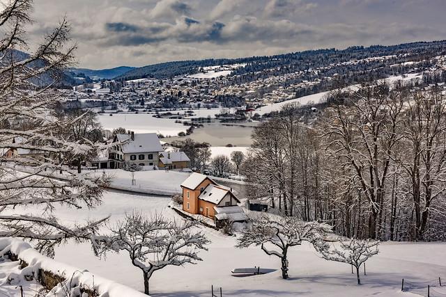 Winter landscape , Vue hivernale sur la France depuis Les Brenets (Switzerland, France)  Izakigur .29.01.19, 15:20:18 No. 190.