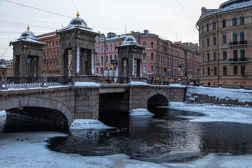 saintpetersburg sunrise russia street water city outdoor town snow exterior old colorful road building river purple morning cityscape style skyscape architecture winter cold ice outdoors petersburg russian st leningradoblast ru