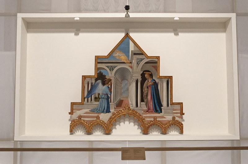 Благовещение (навершие алтаря святого Антония). 1460-1470. Национальная галерея Умбрии. Перужда