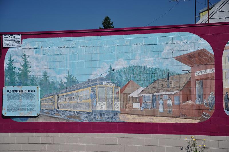 """Old Trains of Estacada"" mural"