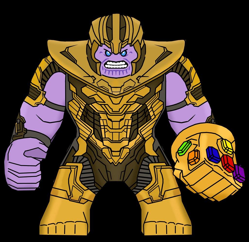 My Custom Lego Avengers Endgame Thanos Minifigure Design