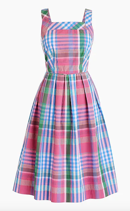 jcrew plaid dress