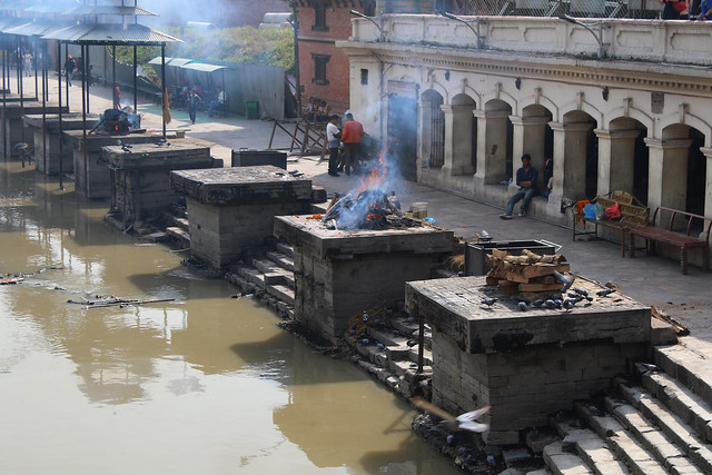 Cremations at the Pashupatinath temple