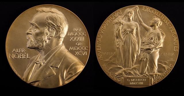 Médaille du Prix Nobel de physique 2018