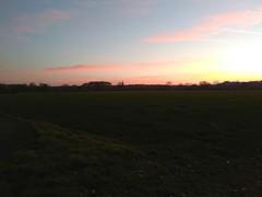 23. Februar 2019 - 18:14 - Abendlicher Blick von der Tilbecker Straße Richtung Wenningweg in Roxel