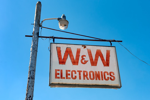 Faded W&W Electronics Sign | by Richard Melton