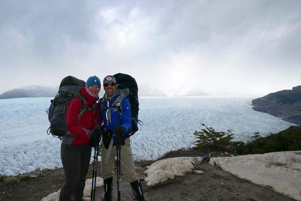 Start of Day High Above Grey Glacier