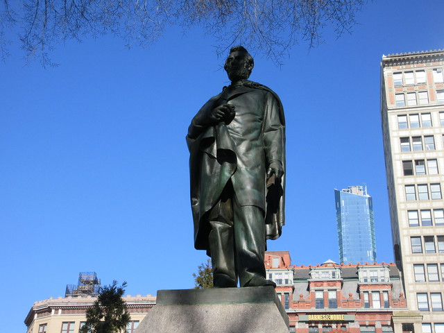 President Abraham Lincoln Bronze statue Union Square Park 1550