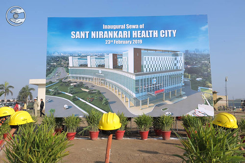 Hoarding of the Sant Nirankari Health City