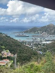 Disney Fantasy docked in Tortola, British Virgin Islands (BVI)