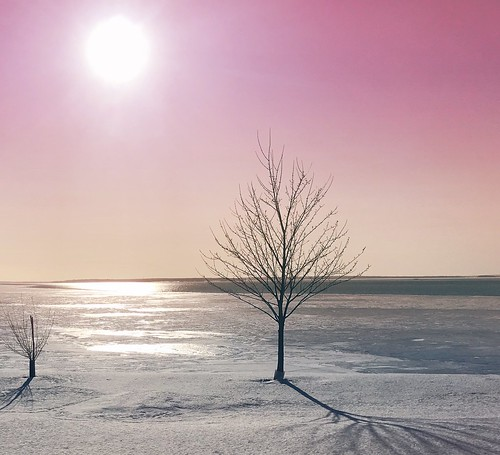 lphone7 mars winterquebec ice sunset rose pink fleuvesaintlaurent saintlaurentriver