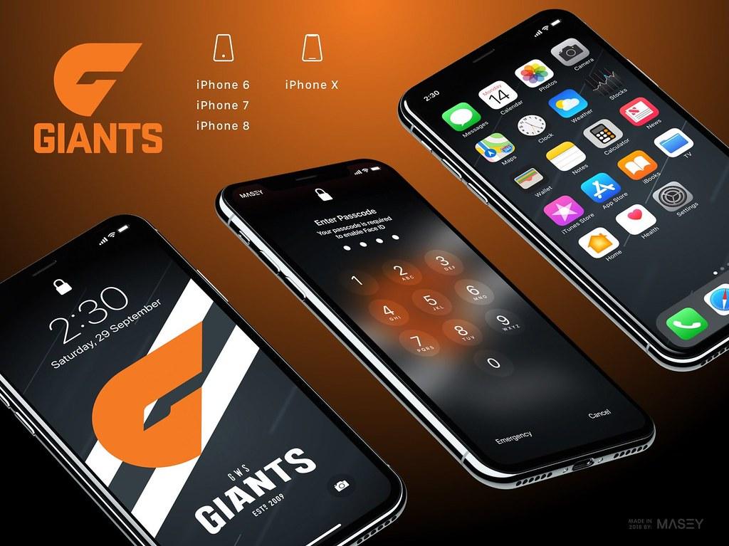 GWS Giants iPhone Wallpaper