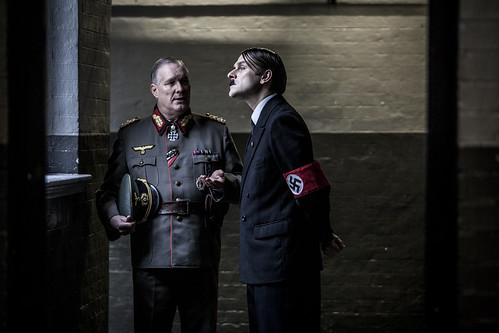 General Wilhelm Bergdorf at The Führerbunker for TV documentary, Hitlers Circle of Evil.
