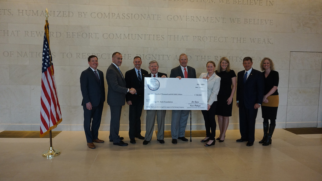 President George W. Bush Foundation Check Presentation