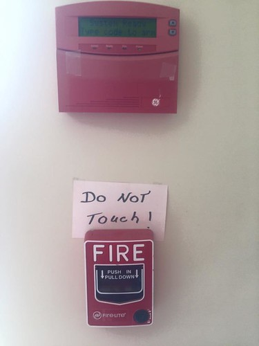 2018 03 fire alarm - do not touch | by Wendrie