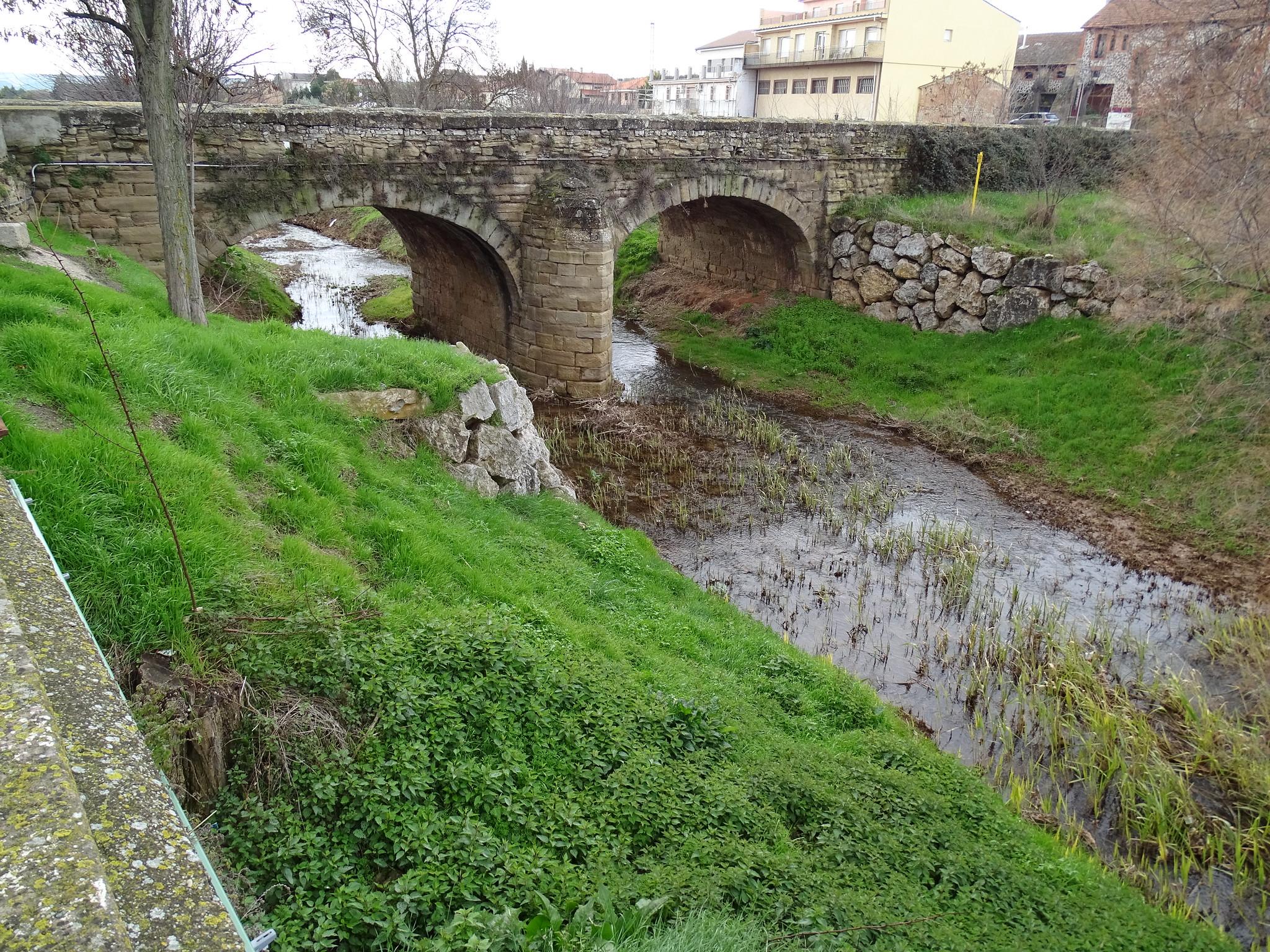 puente rio Odron los Arcos Navarra