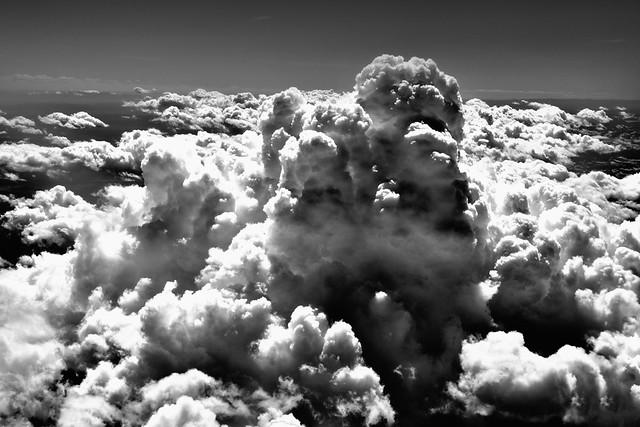 Somewhere Over the Western U.S. (Black & White)