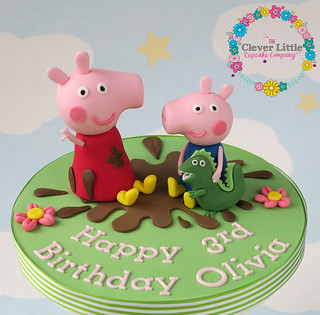 Outstanding Peppa Pig Cake Topper Amanda Mumbray Flickr Funny Birthday Cards Online Overcheapnameinfo