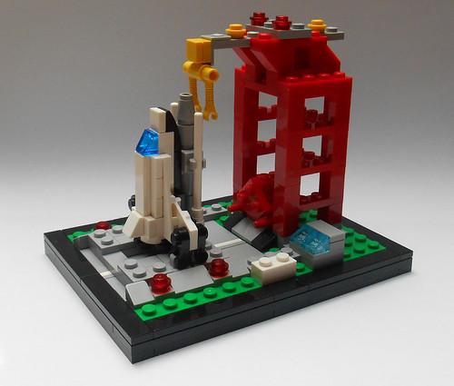 LEGO 6339 Shuttle Launch Pad microbuild