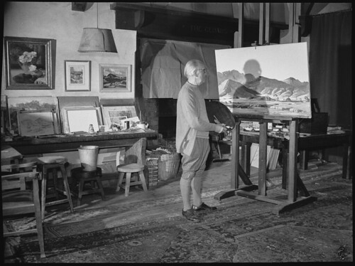 Hans Heysen painting, photographed by R. Donaldson