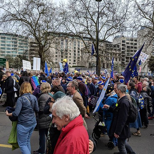 People's Vote March assembles   by Dave Cross