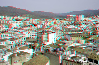 view from Catedral Malaga 3D