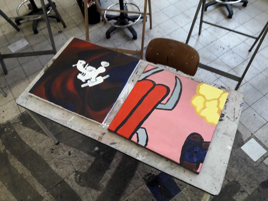 sessie 3 schilderen op doek