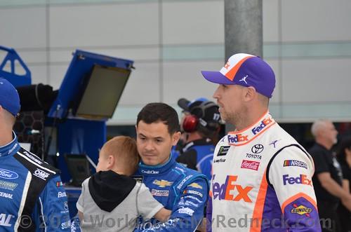 Kyle Larson, Owen Larson, & Denny Hamlin