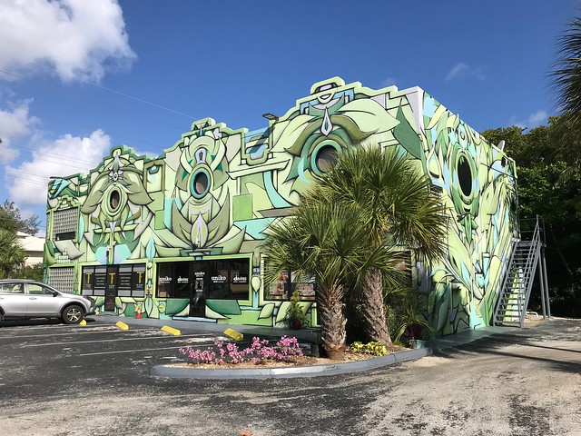 Mural by Ian Ross on West Bay Rd for KAABOOCayman In Cayman Islands Feb 19