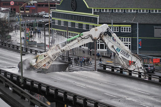 Taking a big bite out of the viaduct | by WSDOT