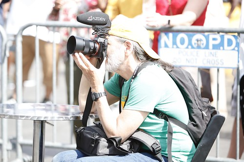 WWOZ at work on Day 2 of French Quarter Fest - 4.12.19. Photo by Michele Goldfarb.
