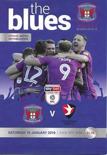 Carlisle United V Cheltenham Town 19-1-19 | by cumbriangroundhopper