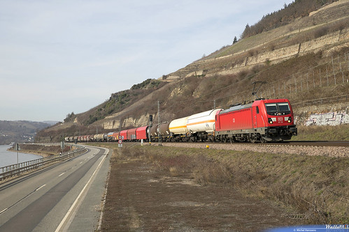 187 106 DB Cargo . 45715 . Lorch (Rhein) 23.02.19.