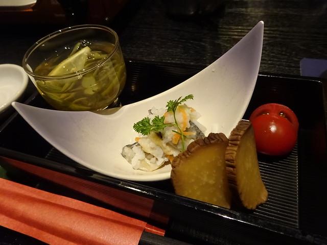 Japanese appetizers @Akita Bizaikan, Tokyo