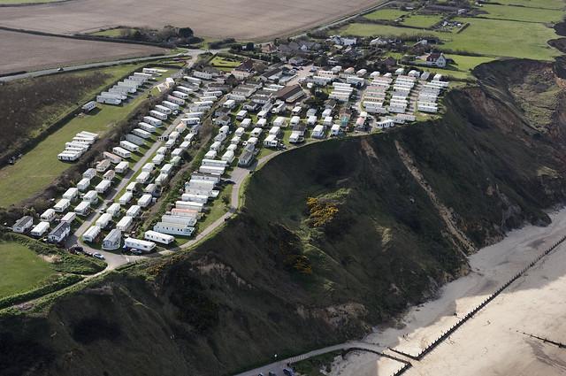 Trimingham House caravan park in north Norfolk - UK aerial