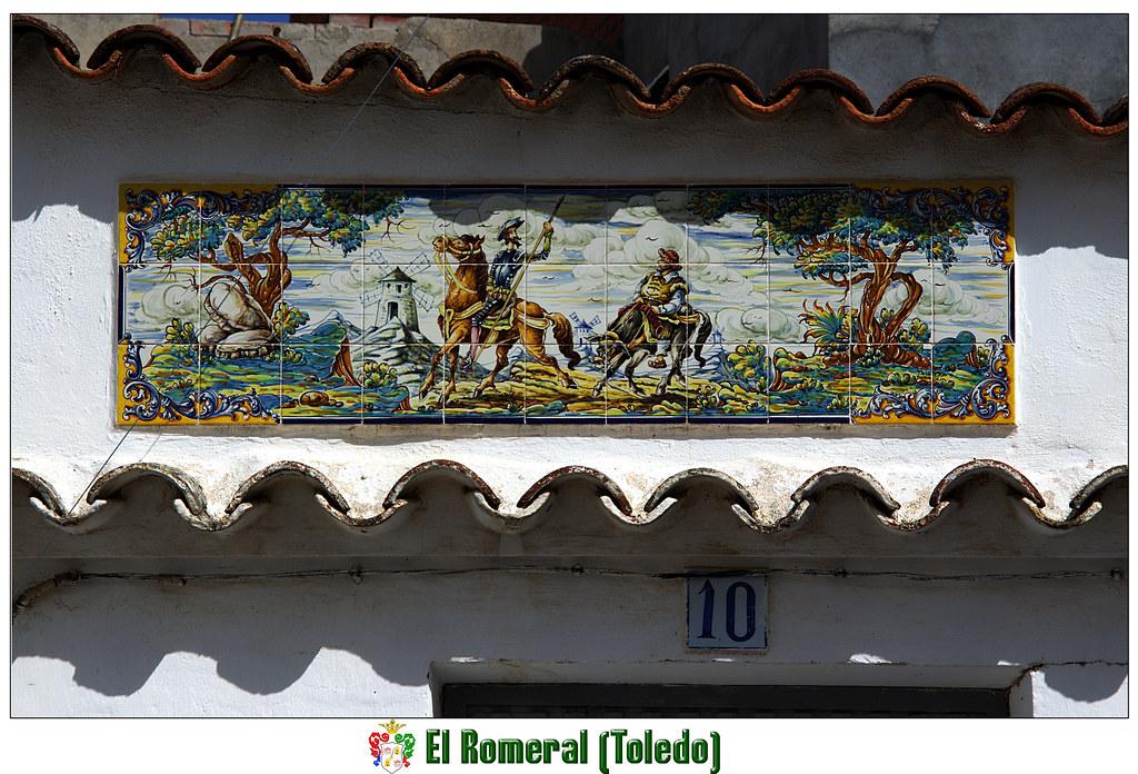 Mosaico quijotil en una vivienda de El Romeral